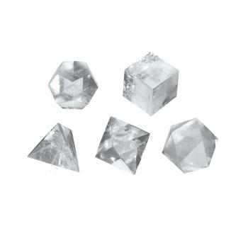 Lapis Vitalis - Platonische Körper Bergkristall Set...