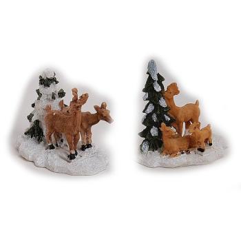 Davartis - Miniatur / Modellbau Rehe mit Tanne (1x 1 Stk.)