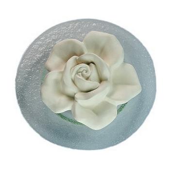 Farfalla - Duftstein Rosenblüte - Glasteller