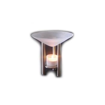 Davartis - Duftlampe Viva/Olymp - Metall, Milchglas-Schale