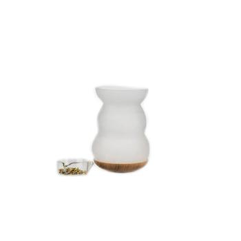 Räucherlampe Lucerna - mundgeblasen, satiniertes Glas
