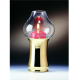 Candola - Lampe Midia messing - Höhe 19cm, Ziehülle rot
