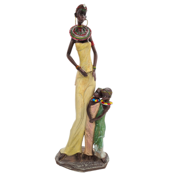Davartis - Afrikanerin mit 2 Kindern - gebeugter Arm