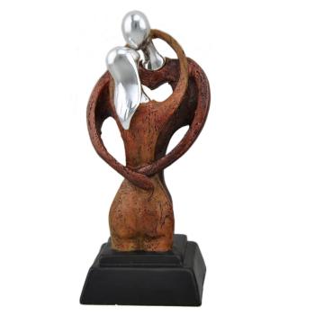 Davartis - Zierfigur, Liebespaar - Umarmung, Kuss, modern