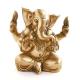 Ganesha sitzend aus Messing, Gott der Weisheit - ca. 14,5 cm