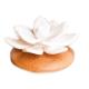Davartis - Duftstein Lotus aus Keramik - Echtholzsockel