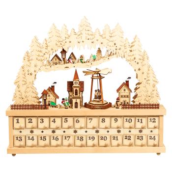 Davartis - LED Schwibbogen Adventskalender aus Holz