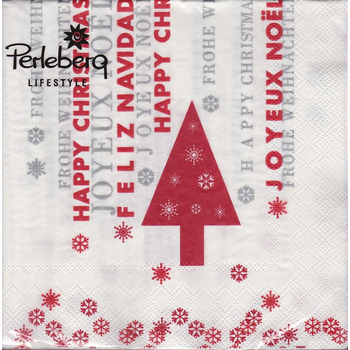 Perleberg - Tischdekor Lifestyle Serviette Happy Christmas