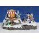 Davartis - Winterszene Miniaturfiguren mit Beleuchtung