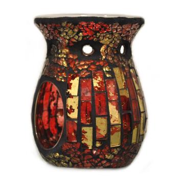 Davartis - Duftlampe Mosaik rot/gold - warme Farbe -...