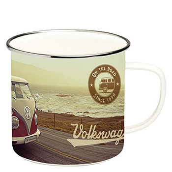 VW Bulli T1 emaillierte Kaffeetasse
