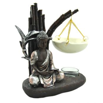 Davartis - Duftlampe Buddha Garden, braun-silber, Keramik...