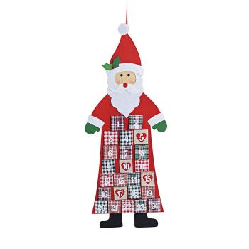 Davartis - Adventskalender Nikolaus zum Hängen aus Filz
