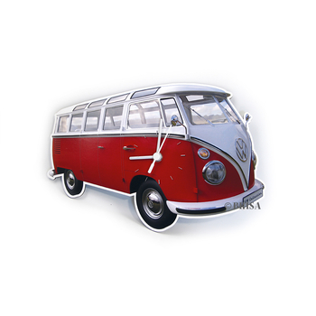 VW T1 Bus Wanduhr 28x18x2,5cm