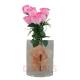 Davartis - Kunstrosen Strauß - mit Stiel ca. 32cm - Farbe Rosa