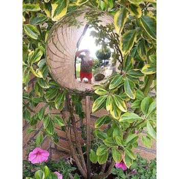 Beetstecker Rosenkugel poliert mit Stab 80cm - versch. Größen