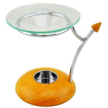 Davartis - Duftlampe Pfeil - Holz, Metall, Glasteller