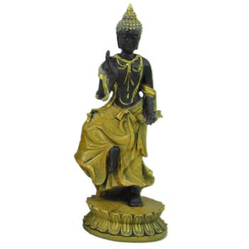 Davartis - Deko Buddha Figur 15cm - gelbgoldfarben #2