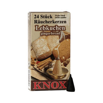 Knox - Räucherkerzen 24 Stk. - Lebkuchen / gingerbread