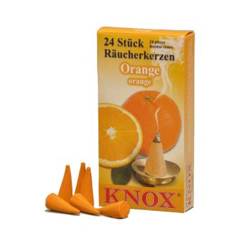 Knox - Räucherkerzen 24 Stk. - Orange, schonender...