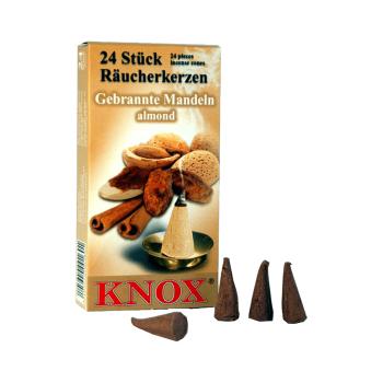 Knox - Räucherkerzen 24 Stk. - Gebrannte Mandeln /...