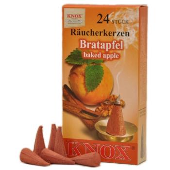 Knox - Räucherkerzen 24 Stk. - Bratapfel / baked apple