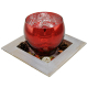 Davartis - Windlicht Glas mit Holztablett mit Dekostreu