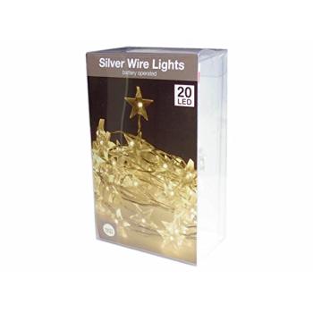 LED Silberdraht 20 Lichter in Stern Form /...