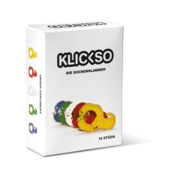 KLICKSO - Die Sockenklammer - 15 Stück - Weiß