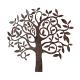 Boltze - Wand Objekt / Wanddekoration Baum 71 x 67cm - Eisen braun