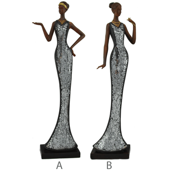 Davartis - Afrikanische Skulptur - Poly mit Mosaik...