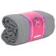 Yoga Handtuch rutschfest - PVC - Grau