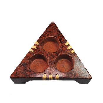 Afrikanischer Teelichthalter / Windlichthalter - Keramik,...