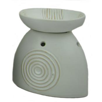 Davartis - Duftlampe African Moon - weiß 14x14x9cm