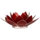 Davartis - Lotus Chakra Licht / Teelichthalter rot - Silberrand