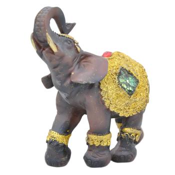 Davartis - Afrikanischer Elefant - mit Goldverzierung - A