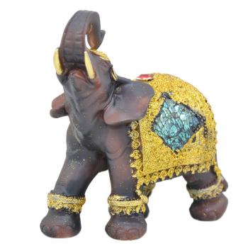 Davartis - Afrikanischer Elefant - mit Goldverzierung - B