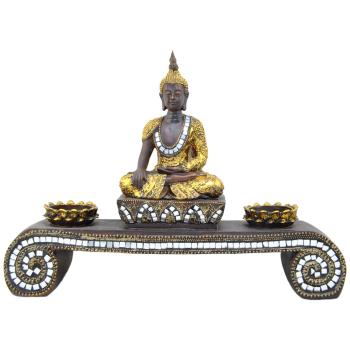 Davartis - Kerzenhalter - Teelichthalter - Buddha mit...