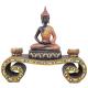 Davartis - Kerzenhalter - Teelichthalter - Buddha mit Goldverzierung und Glasapplikationen - Groß