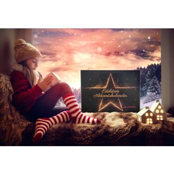 Davartis - Edelstein Adventskalender mit 24 Edelsteinen...