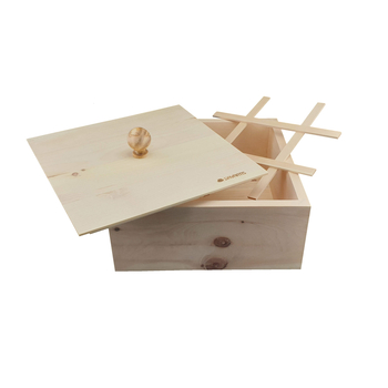 Davartis - Zirben Brotkasten / Brotkiste / Brotbox - 28 x 28 x 14 cm
