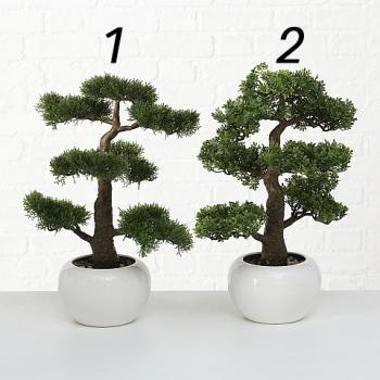 Bonsai künstlich im Keramiktopf und Steindekor ca....