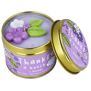 Bomb Cosmetics - Thanks A Bunch Dosenkerze - 200g Rose