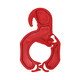 KLICKSO - Die Sockenklammer - 5 Stück - Rot