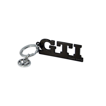 VW GTI Since 1976 - Schlüsselanhänger schwarz mit VW Logo Charm silber