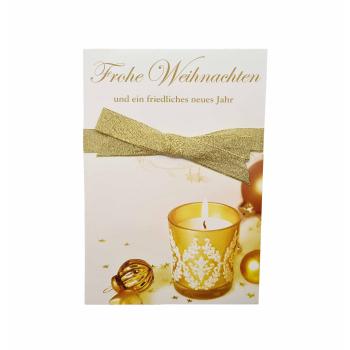 Weihnachtskarte - Frohe Weihnachten Teelicht - ca. 16,5cm...