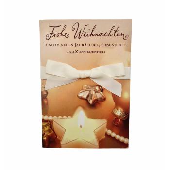 Weihnachtskarte - Frohe Weihnachten Stern - ca. 16,5cm x...