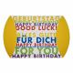 Geschenkschachtel / Kissenschachtel ca. 24,5cm x 20cm (Happy Birthday)