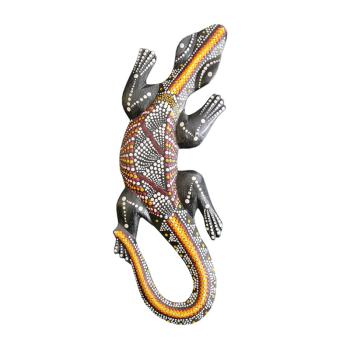 Davartis - Kleiner Deko Gecko - Rot/Gelb - exotisch