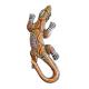 Davartis - Kleiner Deko Gecko - Gelb/Orange - ausgefallen